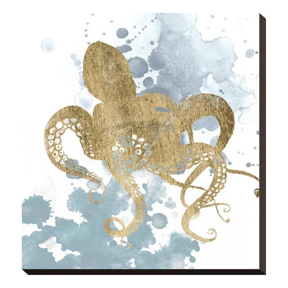 Gilded Splash I Stretched Canvas Print 19x20 - Art.com, Multicolored