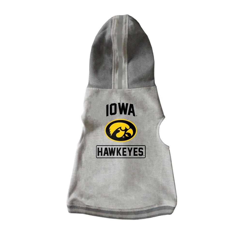 Iowa Hawkeyes Little Earth Pet Hooded Crewneck Football Shirt - M, Multicolored