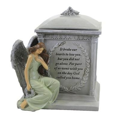 "Home Decor 8.25"" Memorial Box W/Angel Bereavement Sympathy Loss  -  Decorative Jars"