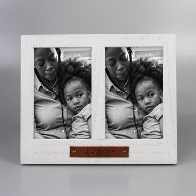 "4"" x 6"" De-bossed Table Frame ""GRANDKIDS"" White - Threshold™"