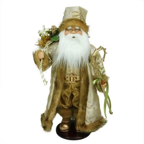 "Northlight 18.25"" Winter Light Santa Claus with Jacquard Jacket Christmas Decoration - image 1 of 1"