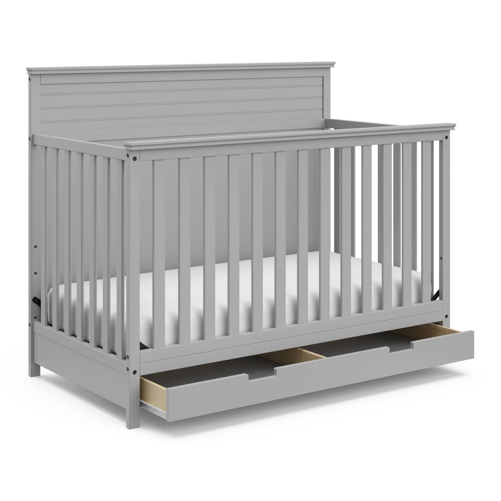 Storkcraft Homestead 4-in-1 Convertible Crib With Drawer - Pebble Gray Top