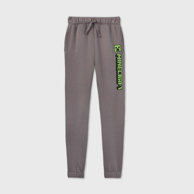 Boys' Minecraft Jogger Pants - Gray