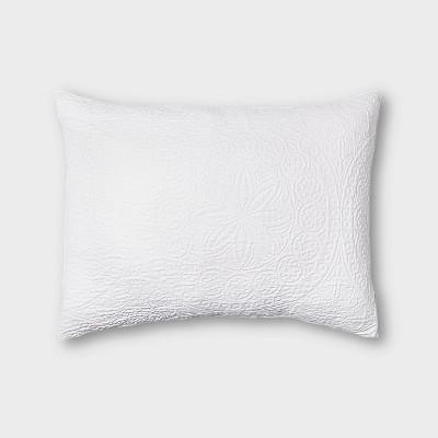 Matelasse Washed Medallion Pillow Sham - Threshold™