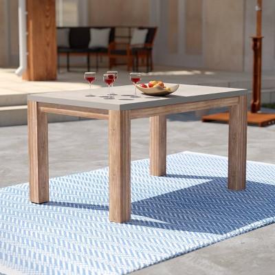 Sarsen Rectangle Cement Patio Dining Table - Aiden Lane
