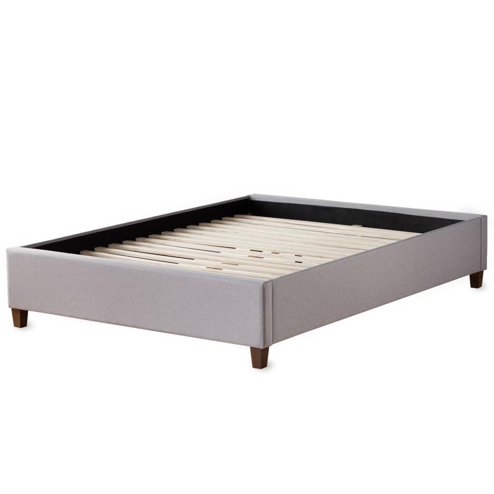 Image of California King Ava Upholstered Platform Bed with Slats Beige - Brookside