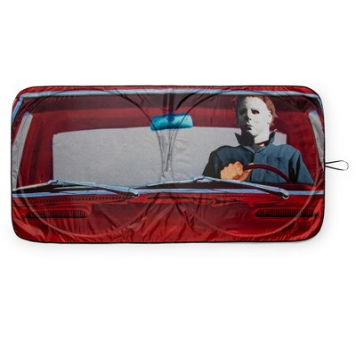 Surreal Entertainment Halloween Michael Myers Sunshade for Car Windshield | 64 x 32 Inches