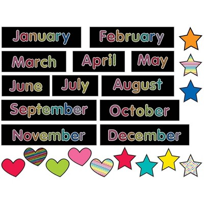 Schoolgirl Style 24pc Just Teach - Months of the Year Mini Bulletin Board Set