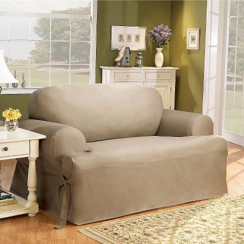 Cotton Duck Tcushion Sofa Slipcover Sure Fit Target