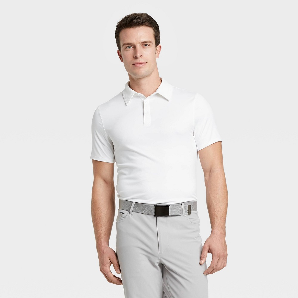 Men's Big & Tall Jersey Golf Polo Shirt - All in Motion True White XXXL, Men's was $20.0 now $12.0 (40.0% off)