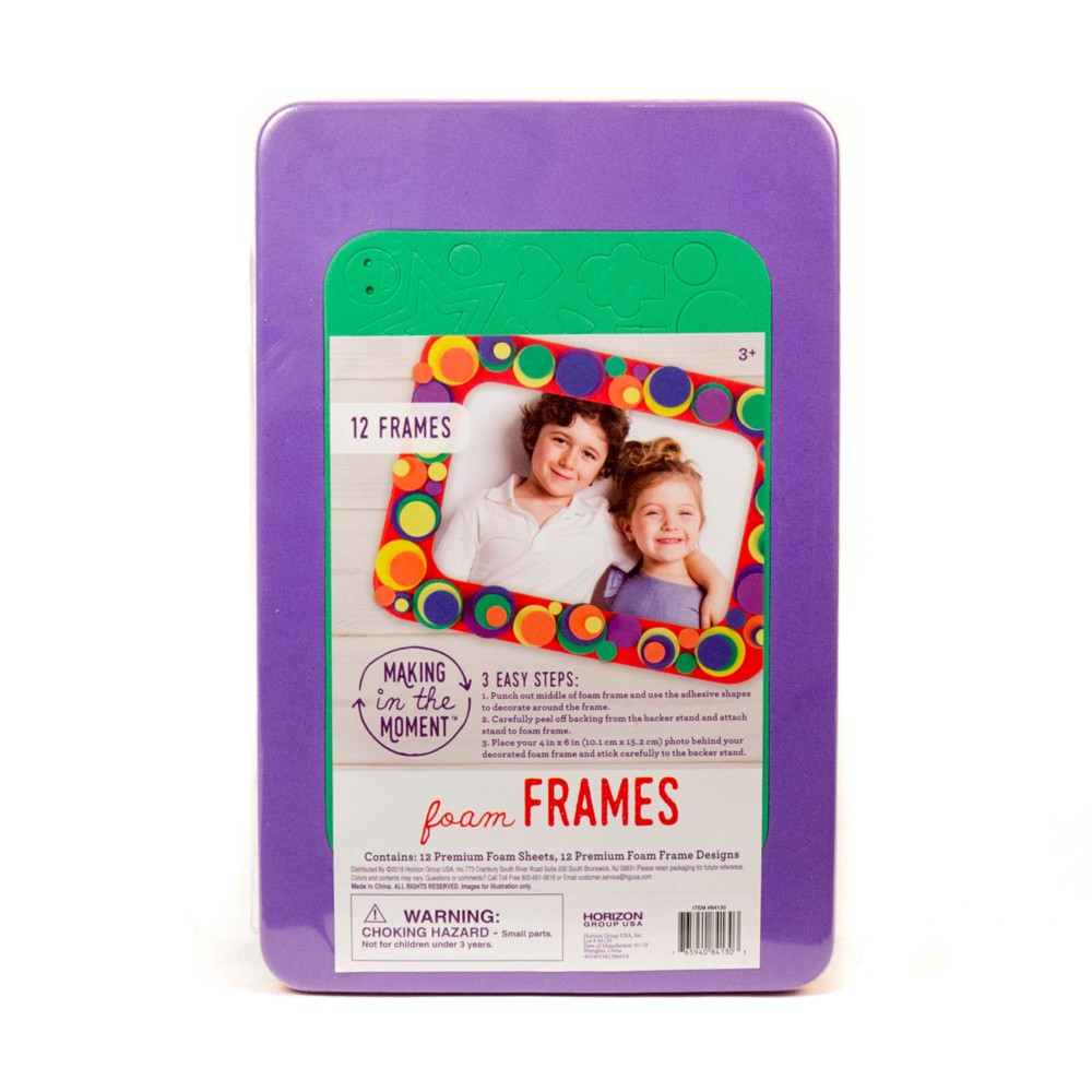 Foam Frames 12ct - Making in the Moment, Multi-Colored