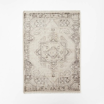 Knolls Authentic Hand Knotted Distressed Persian Rug Ivory - Threshold™ designed with Studio McGee
