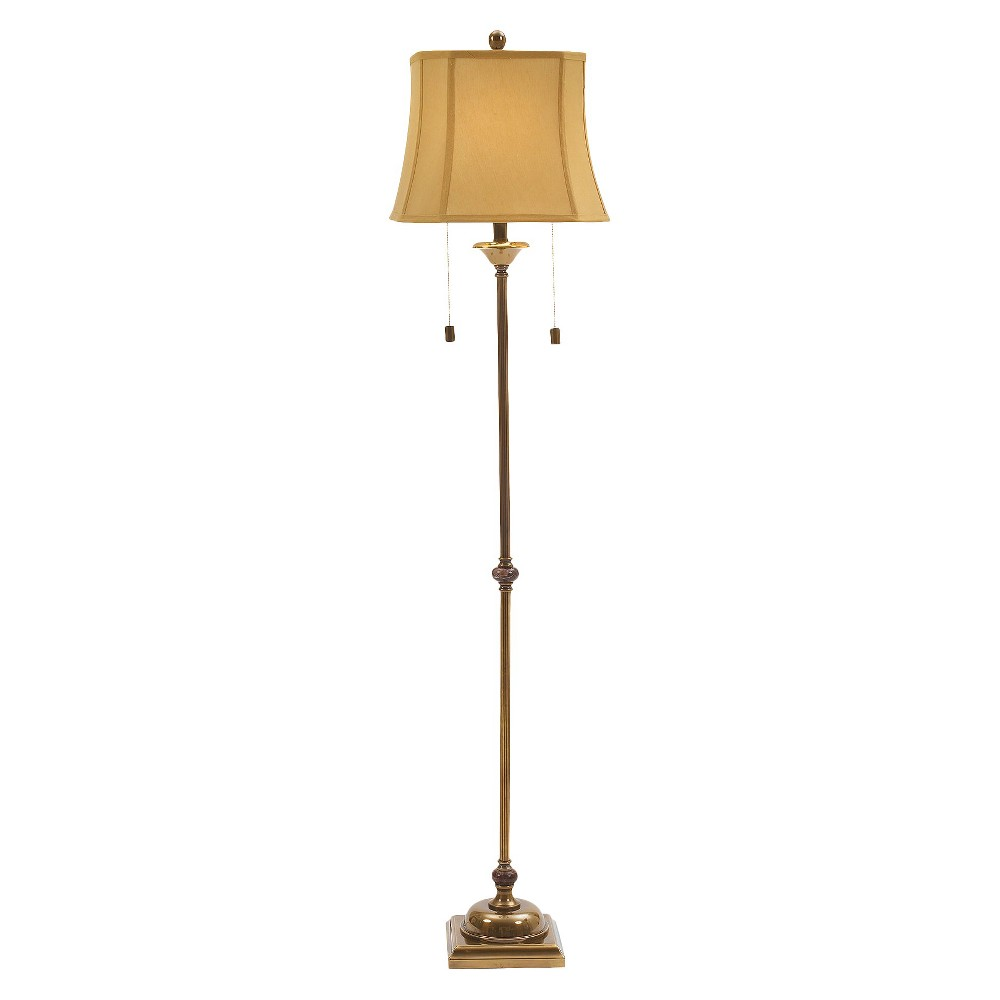 Brass Renaissance Steel Club Floor Lamp