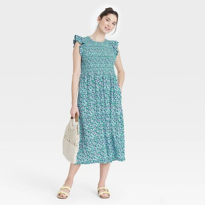 Women's Sleeveless Smocked Dress - A New Day™
