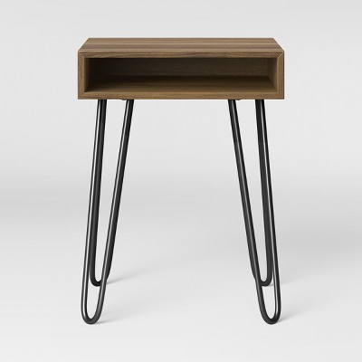 Hair Pin Accent Table Espresso Brown   Room Essentials™