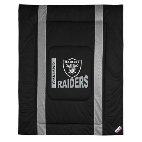Nfl Twin Comforter Sidelines Football, Oakland Raiders King Bedding