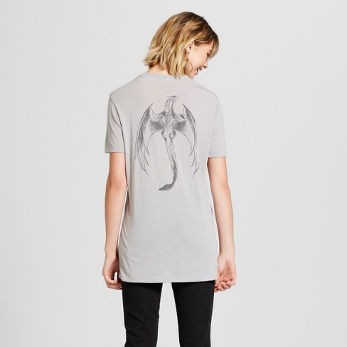 7b9b6af0 Women's Game Of Thrones® Mother Of Dragons Short Sleeve T-Shirt (Juniors')  - Gray XS : Target