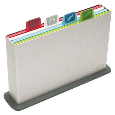 Joseph Joseph Index Advance Large Chopping Board Set - Silver
