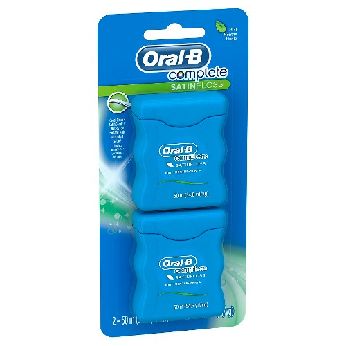 Oral-B Complete SatinFloss Mint Dental Floss - 100m