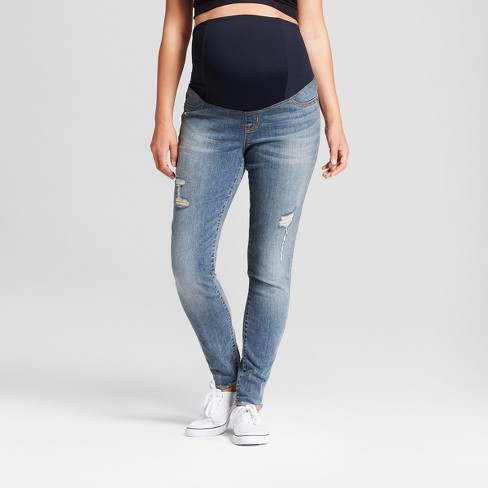 73ce9066fb839 Maternity Crossover Panel Skinny Jeans - Isabel Maternity By Ingrid &  Isabel™ Medium Wash : Target