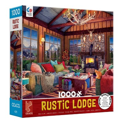 Ceaco Rustic Lodge: Cozy Fire Jigsaw Puzzle - 1000pc