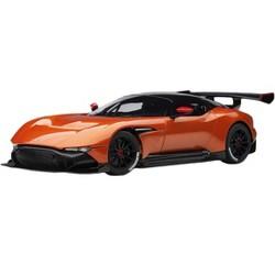 Aston Martin Vulcan Madagascar Orange with Carbon Top 1/18 Model Car by Autoart