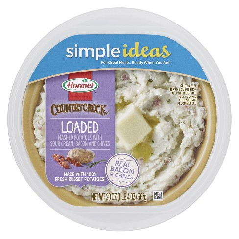Hormel Country Crock Loaded Mashed Potatoes With Sour Cream, Bacon And Chives - 20oz - image 1 of 1