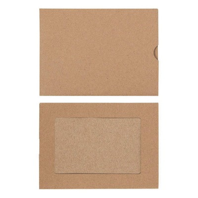 """48-Pack Photo Insert Paper Picture Frame with Envelopes Included, Kraft Brown Paper, Holds 4"""" x 6"""" Photos"""