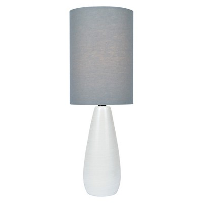 "Quatro Table Lamp 17"" Brushed White  - Lite Source"