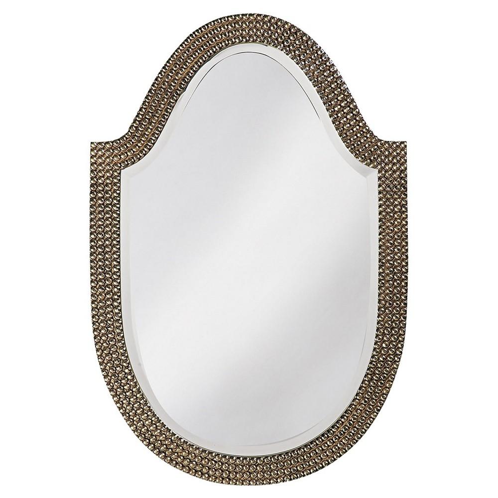 Oval Lancelot Decorative Wall Mirror Brass - Howard Elliott