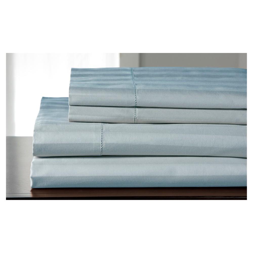 King 500 Thread Count Andiamo Cotton Sheet Set Blue Haze