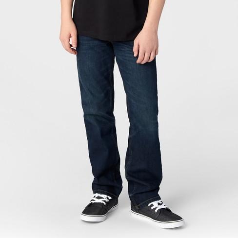 38f59369b Boys' Straight Fit Jeans - Cat & Jack™ Dark Wash : Target