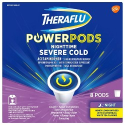 Theraflu PowerPods Nighttime Severe Cold Relief - Acetaminophen - Honey Lemon & White Tea - 8ct