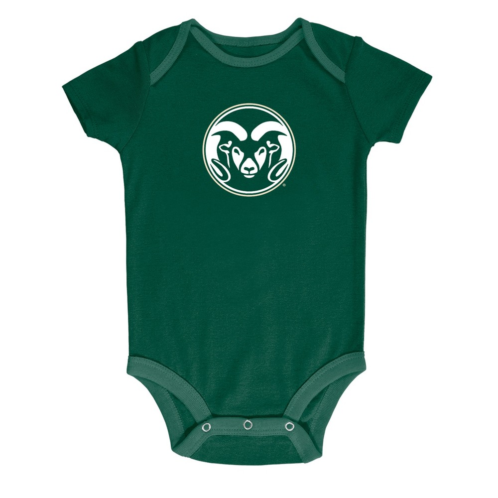 NCAA Baby Boys' 3pk Bodysuit Colorado State Rams - 6-9M, Multicolored