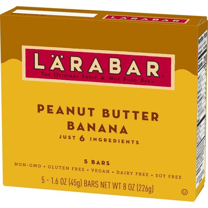 Larabar Peanut Butter Banana Fruit and Nut Bar - 5ct - image 1 of 3