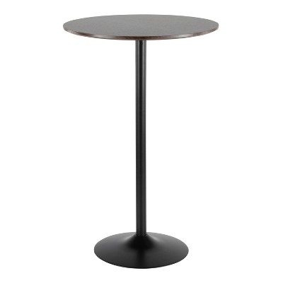 Pebble Adjustable Dining To Bar Table Black/Espresso - LumiSource