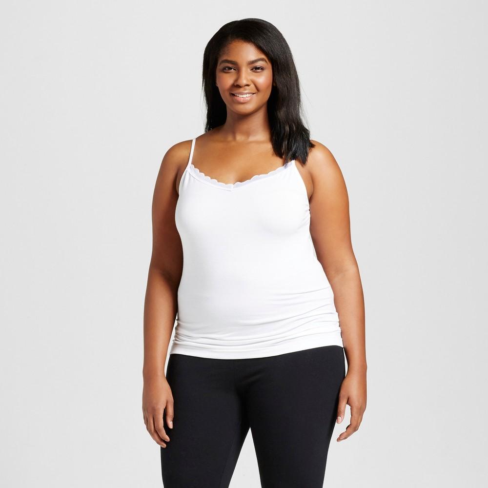 Women S Plus Size Sleep Camisoles Gilligan O Malley 8482 White 2x