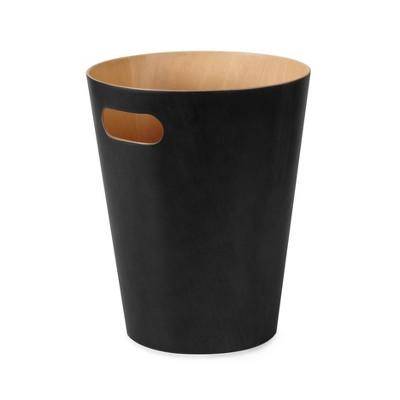 Umbra 2gal Woodrow Indoor Trash Can Black