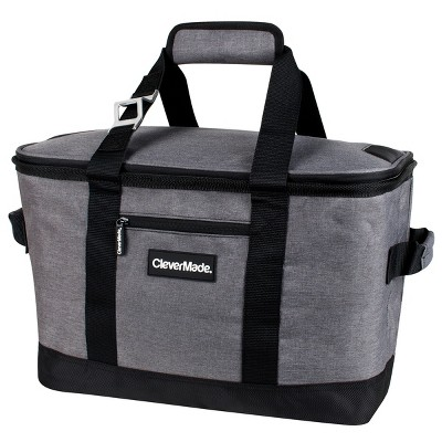 CleverMade SnapBasket Soft Sided 66qt Collapsible Cooler - Heather Charcoal/Black