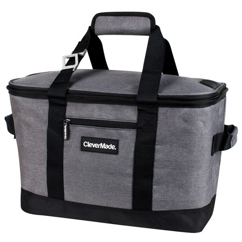 Clevermade Snapbasket 50 Can Soft Sided Collapsible Cooler Heather Charcoal Black Target