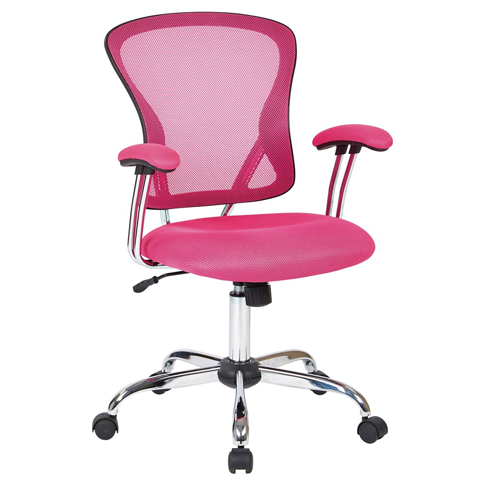 Image of Ave Six Juliana Task Chair Pink Mesh - Office Star