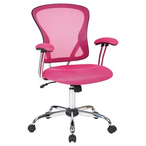 Ave Six Juliana Task Chair Pink Mesh Office Star