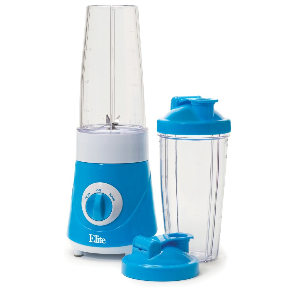 Elite Cuisine Personal Drink Mixer - Blue 717056121978, Antique Blue Enjoy fresh and delicious frozen drinks, smoothies, protein shakes, milk shakes and more in just minutes with the Elite Cuisine, Personal Drink Blender. A handy travel lid lets you blend and drink in the same cup, eliminating the need for extra dishes. Perfect for your busy, on-the-go healthy lifestyle! Color: Antique Blue.