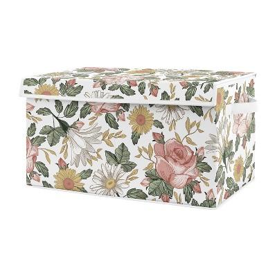 Vintage Floral Toy Bin Pink/Green - Sweet Jojo Designs