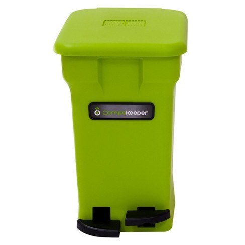 CompoKeeper Kitchen 6 Gallon Compost Organic Waste Kitchen Bin Trash Can,  Green