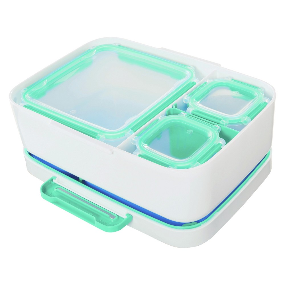 Rubbermaid LunchBlox Leak Proof Lunch Container Kit with Case Blue, Red