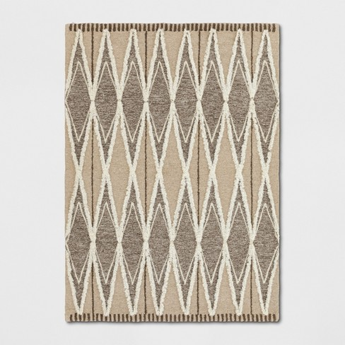 Tufted Damask Area Rug Light Off-White - Project 62™ - image 1 of 3