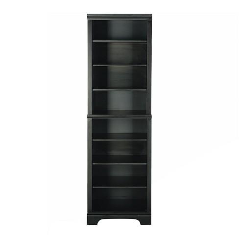 Bedford Shelf Closet Wall Unit - Satin Black - Home Styles - image 1 of 3