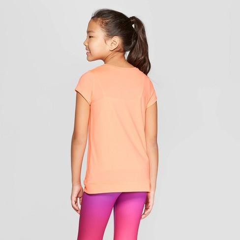 26371d51 Girls' Knot Front Super Soft Tech T-Shirt - C9 Champion® Sunset ...
