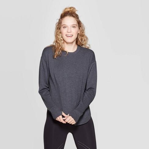 Women's Cozy Curved Hem Sweatshirt - JoyLab™ - image 1 of 2